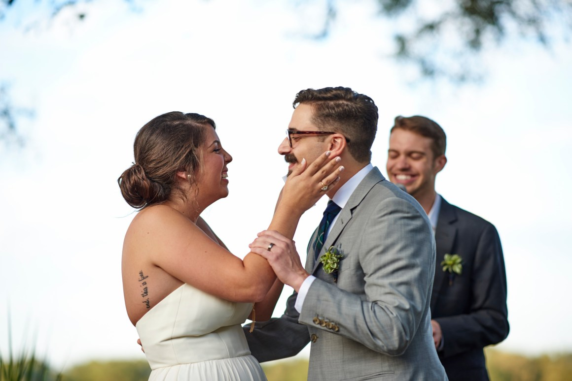 First Kiss, Wedding, Stonehouse Villas, Dripping Springs