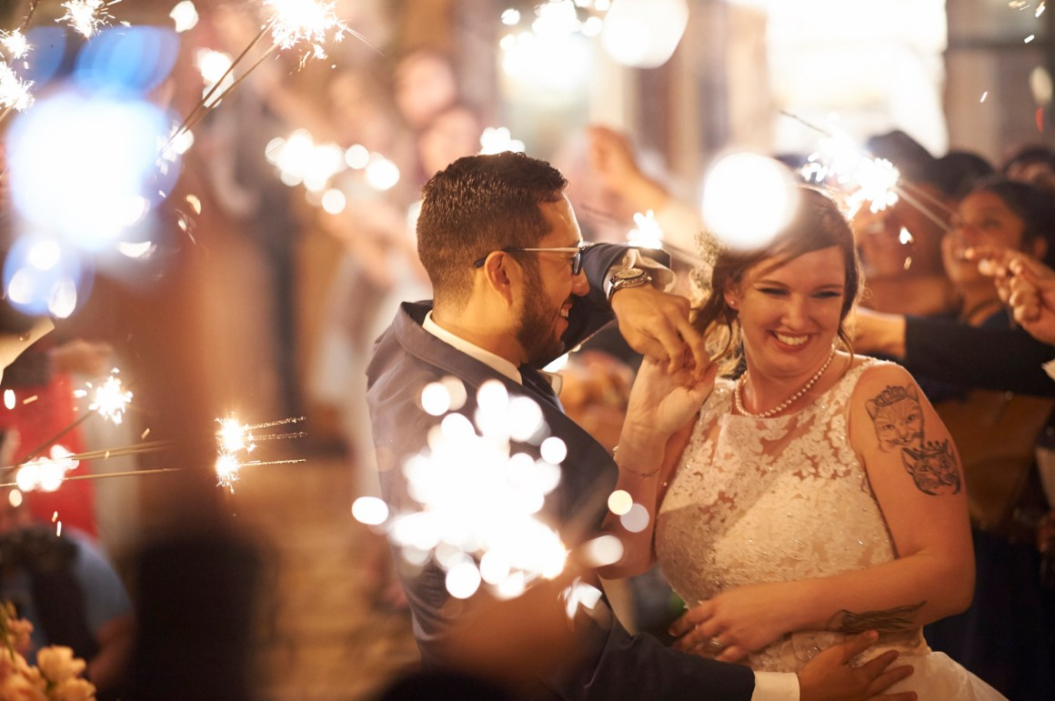 Sparkler Exit, Wedding, Memory Lane, Dripping Springs, Memory Lane Wedding