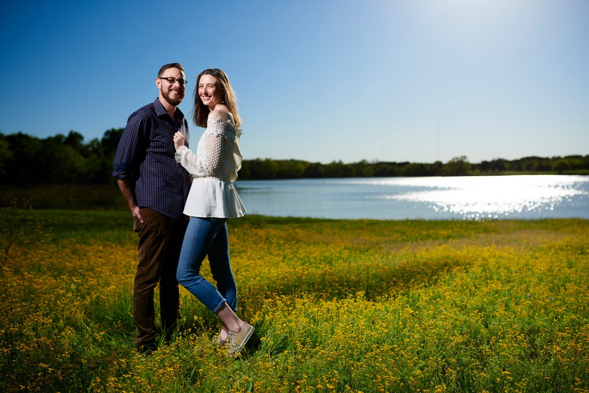 Wild Flower Engagement Photos - Waco DIY Wedding - Temple Camp Wedding - Hallie and Jonathan - Green Family Camp - Blue Bonnet Wedding