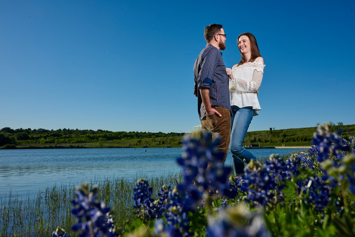 Bluebonnet Engagement Photo - Hallie and Jonathan - Green Family Camp - Bluebonnet Wedding - 072