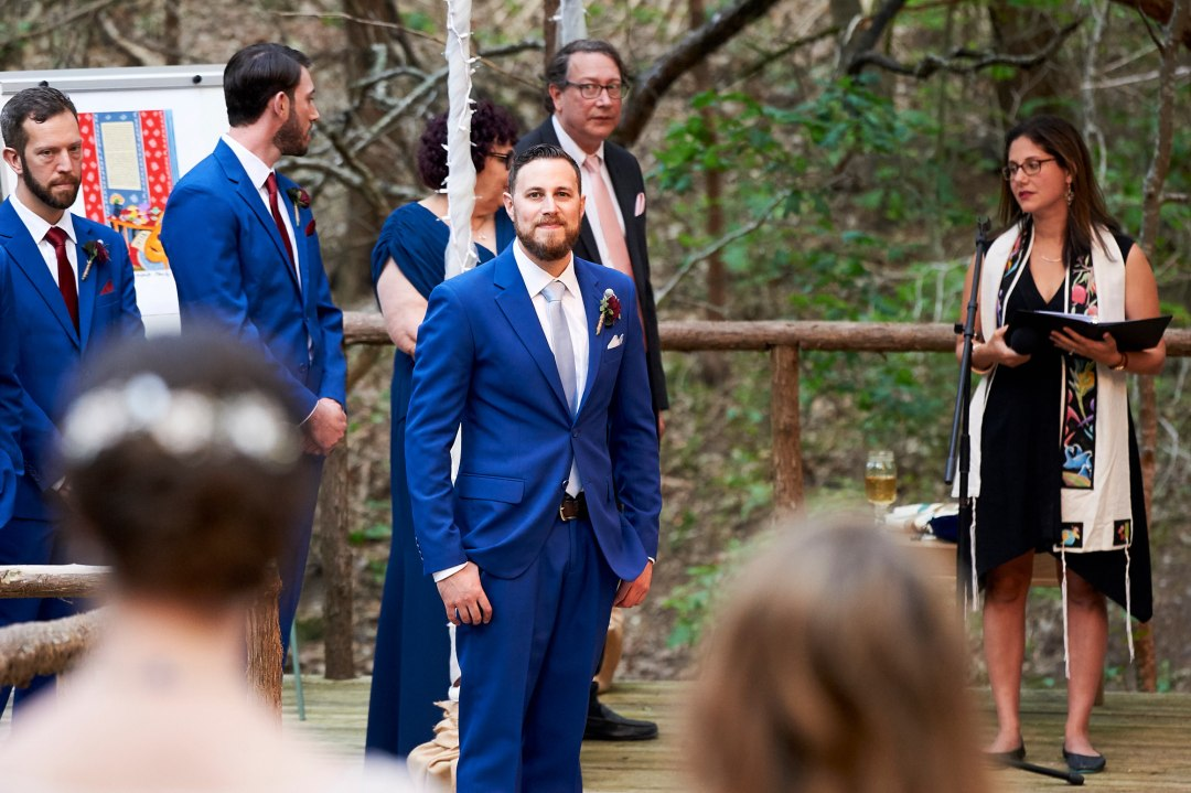 Forest Wedding Ceremony - Waco DIY Wedding - Temple Camp Wedding - Hallie and Jonathan - Green Family Camp - Outdoor Wedding