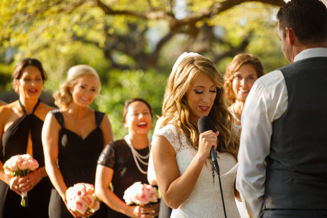 Antebellum Oaks Wedding - Austin Wedding Photographer - Jacob and Katie - exchanging vows - hill country wedding,