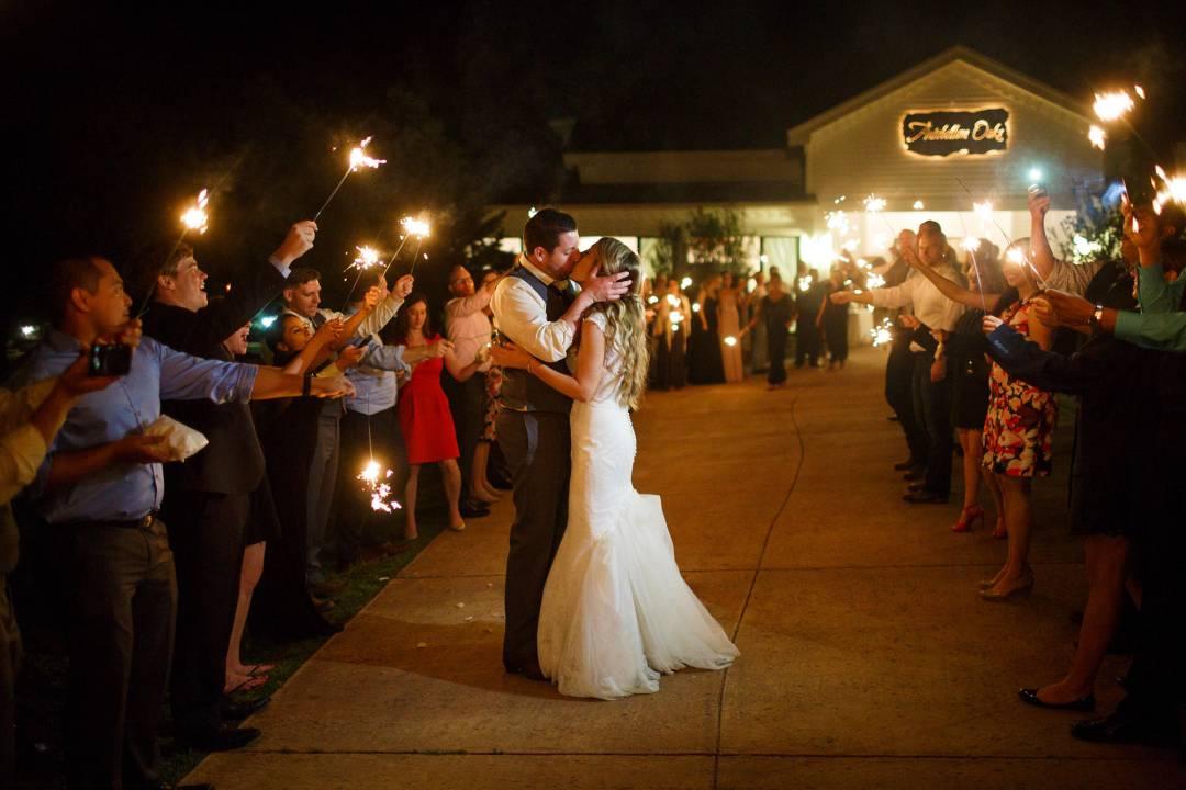 Antebellum Oaks Wedding - Austin Wedding Photographer - Jacob and Katie - - wedding reception - bride and groom exit for evening -