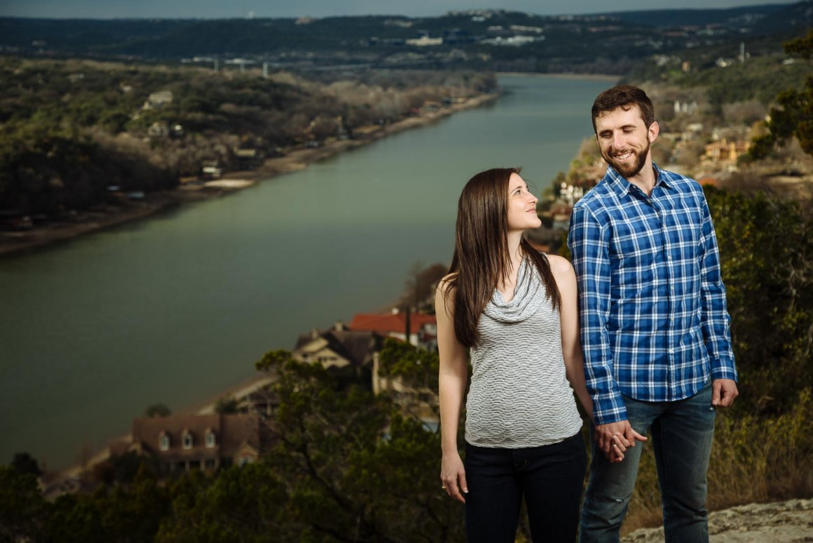 Mt Bonnell Engagement Photos - Austin Wedding photographers- Austin Engagement Photographers- Lake Austin - Hill Country - Warren and Katelyn Engagements
