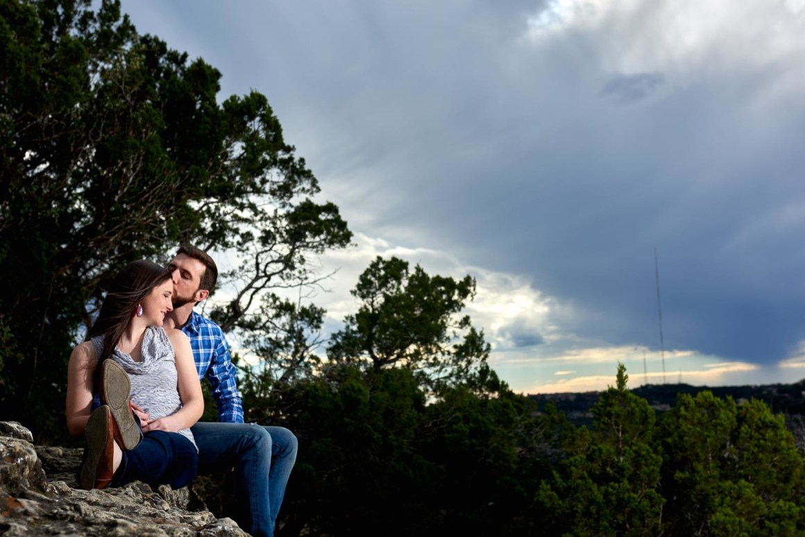 Mt Bonnell Engagements - Austin Wedding photographers- Austin Engagement Photographers- Lake Austin - Hill Country - Warren and Katelyn Engagements