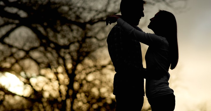 Warren and Katelynn Engagement - Commons Ford Ranch - Cool sky in background - Sunset silhouette - Texas Sunset