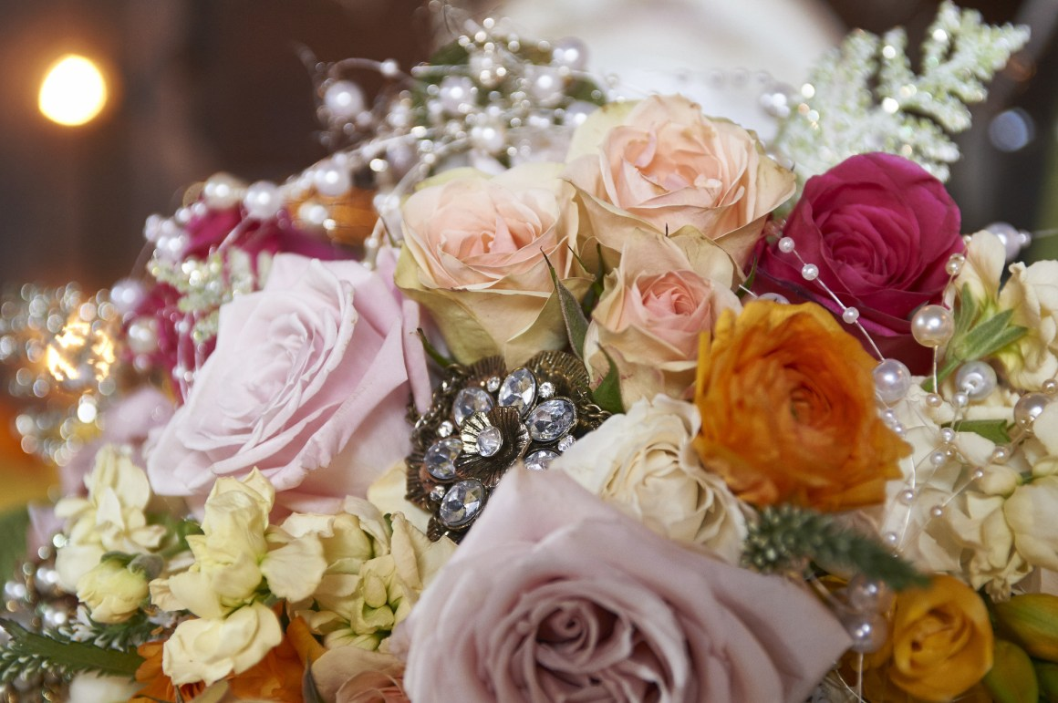 Bridal Bouquet Close Up Details - Rustic Wedding - Elegant Wedding Details - Austin Wedding Photography