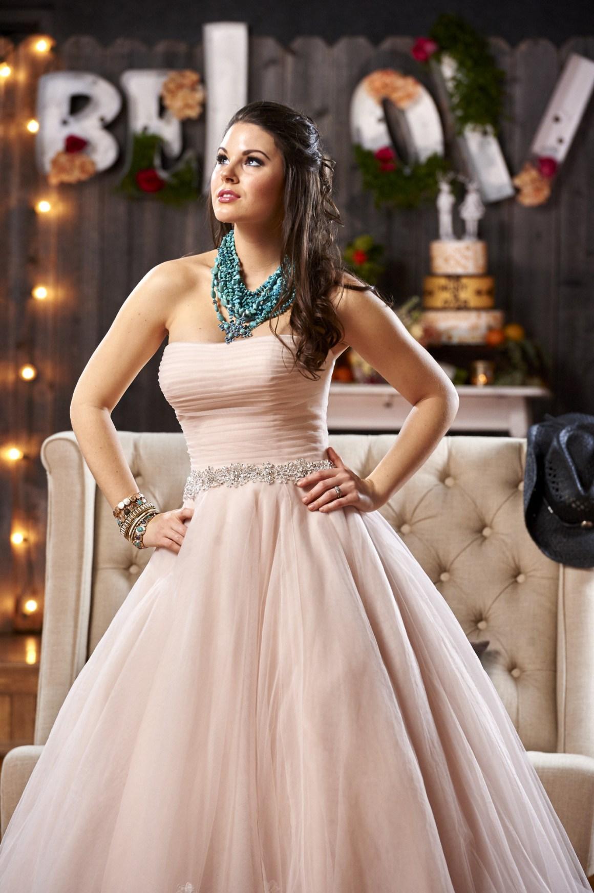 Blush Wedding Dress - Bliss Bridal - Rustic Wedding - BeLoved High Fashion Country Wedding - Styled Shoot - Terrace at Salado - Austin Wedding Photography