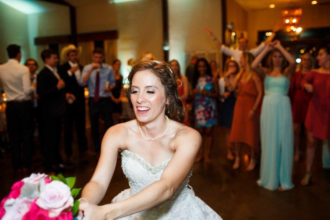 Hill Country Wedding - Pecan Springs Ranch Wedding - Flower Toss - Austin Wedding Photographer - Matt and Allison
