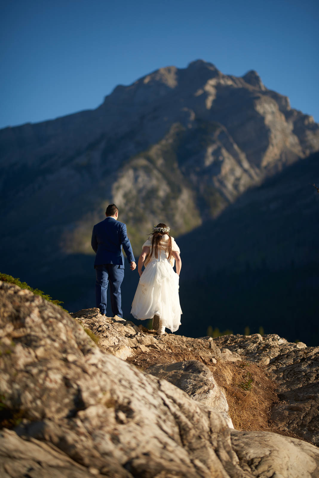 Adventure Wedding, Destination Wedding, Austin Wedding Photographers, Banff Mountains, Alberta Canada, Couple Going on and Adventure