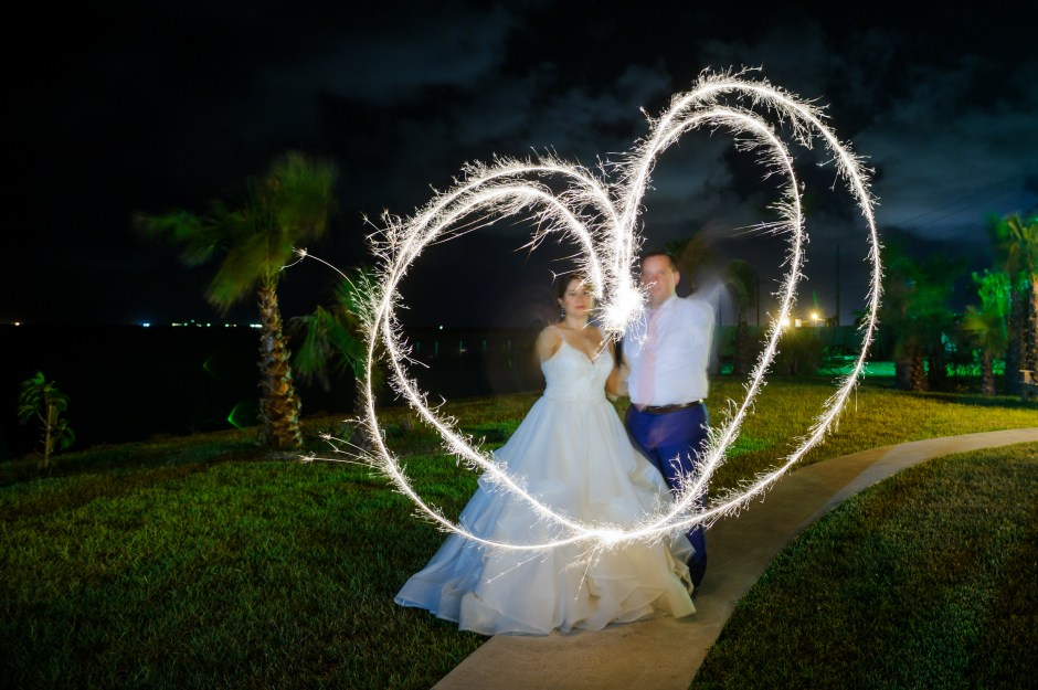 Adventure Wedding, Destination Wedding, outdoor wedding, Beach Wedding, Port Aransas Wedding, Port Aransas,Austin Wedding Photographers, Wedding Portraits under stars, Sparkler Wedding Portraits,