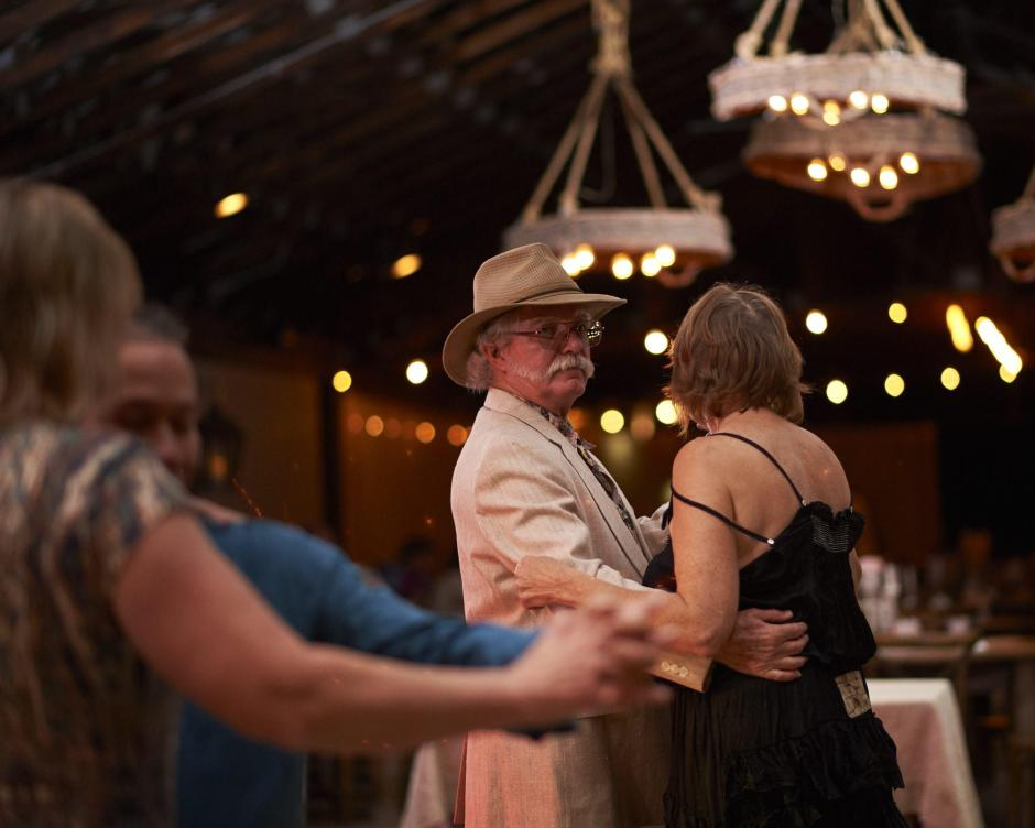 Guests dancing at Gruene Estate Wedding