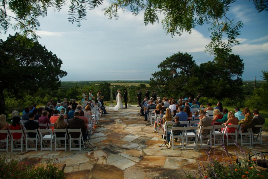 Wes and Cheyenne Wedding Ceremony at TerrAdorna in Austin, Tx