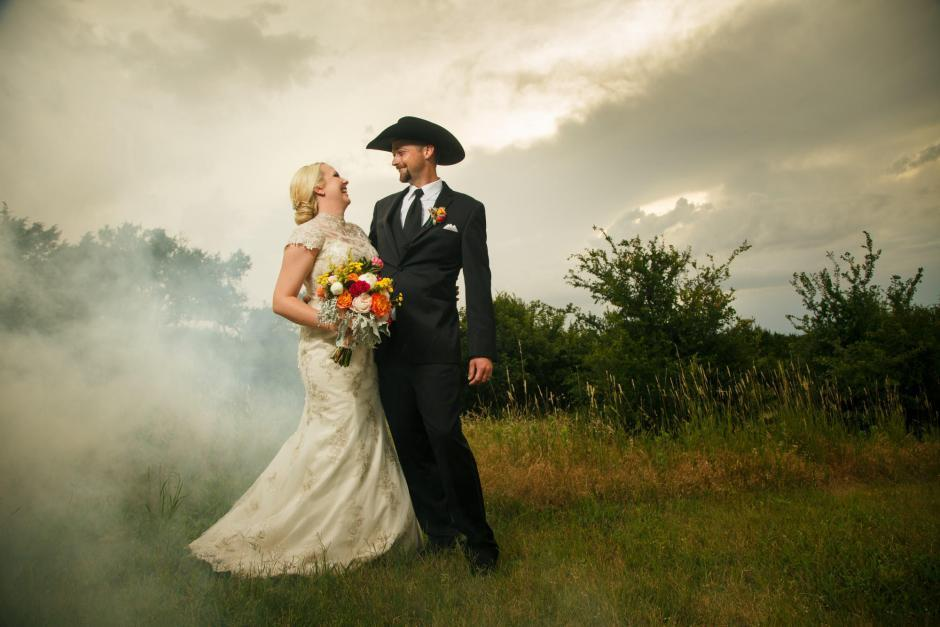 Wes and Cheyenne Texas Style TerrAdorna Wedding Portraits