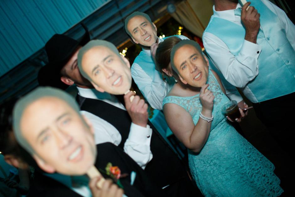 Fun with Masks at TerrAdorna Wedding Reception