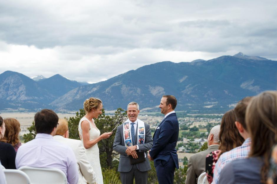 Allison and Gabe exchange vows at their DIY Destination Wedding