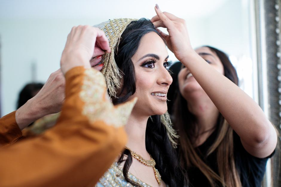 Indian bride getting ready - Jay and Samira - Heart of Texas Ranch Wedding in Marble Falls Texas - Indian-Christian Fusion Wedding