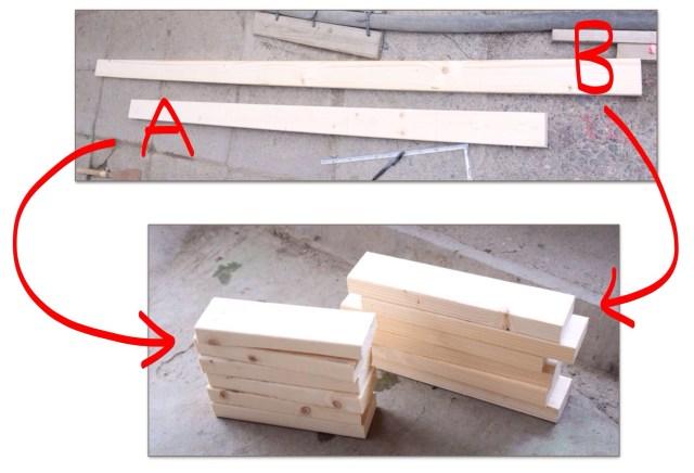 自作カーブボックス材料