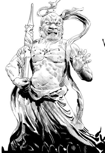 仁王像~♪昔の人はすごいな~