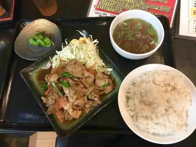 ラーメン,長野,上田市,麺将武士,もののふ,焼肉信玄炒め定食