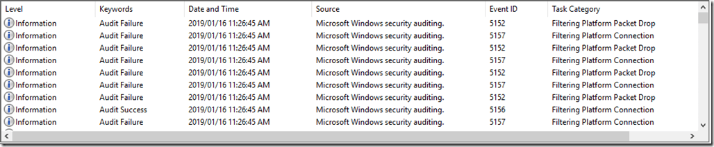 Cluttered Security Event Log