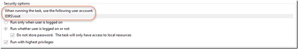 Task User Account