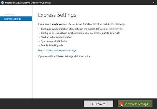 Use express settings