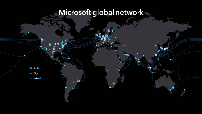 Microsoft's Global network map