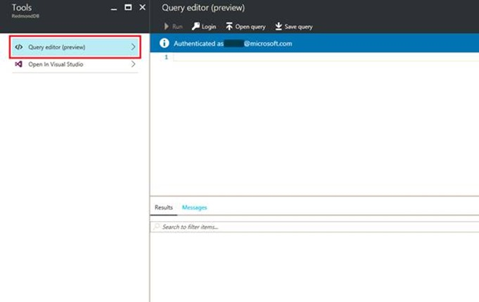 SQL Database Query Editor