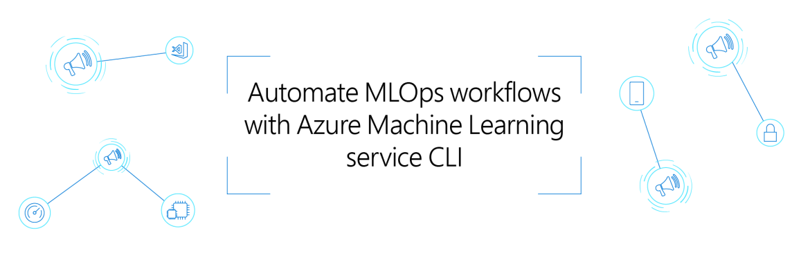 "Image with reference to the title ""Automate MLOps workflows with Azure Machine Learning service CLI"""