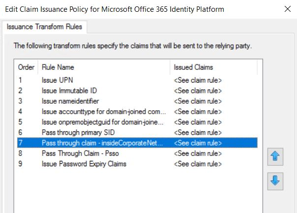 """Azure Conditional Access with """"Skip MFA for Requests From Federated"""