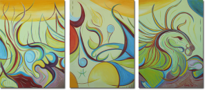 "The Art Gallery - Artist: Fawnette. Triptych. ""In the Light of the Seahorse"""