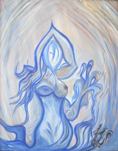"Art Gallery - Artist: Fawnette. ""The Blue Lady"""