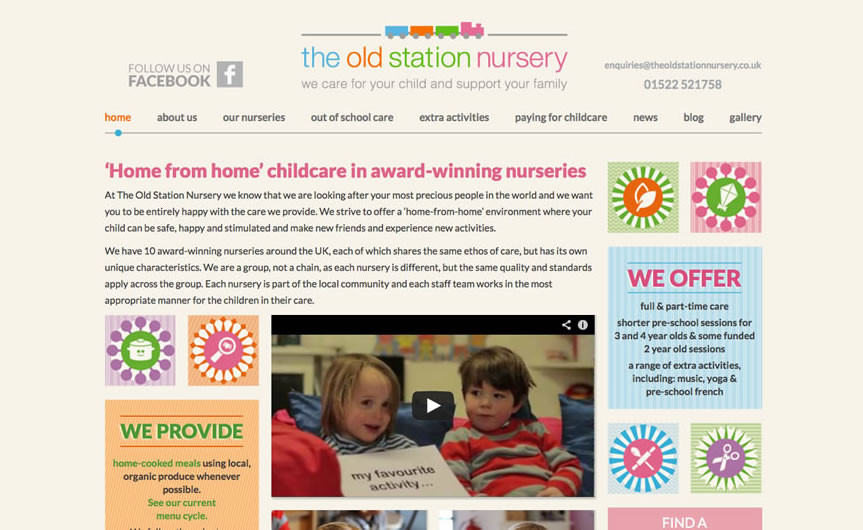 The Old Station Nursery website