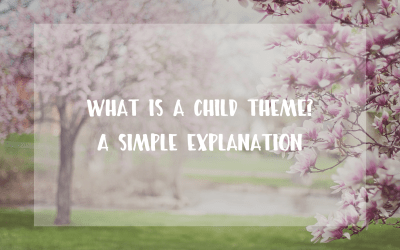 What is a WordPress child theme – a simple explanation