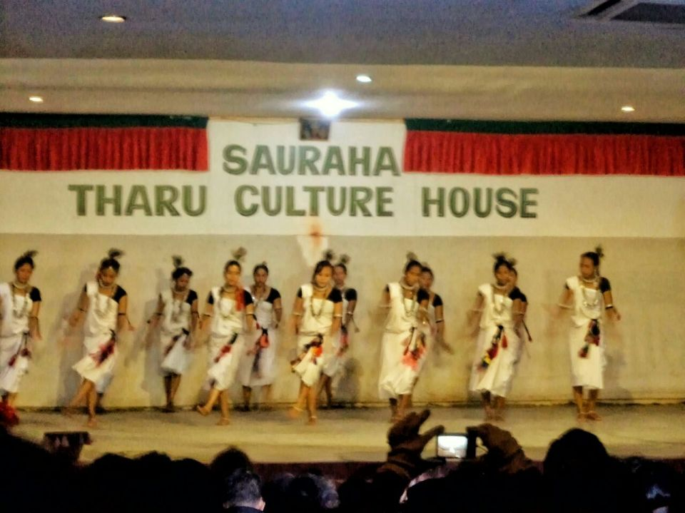 tharu culture - tharu-dance-show-sauraha-chitwan-nepal-the-azure-sky-follows-tania-mukherjee