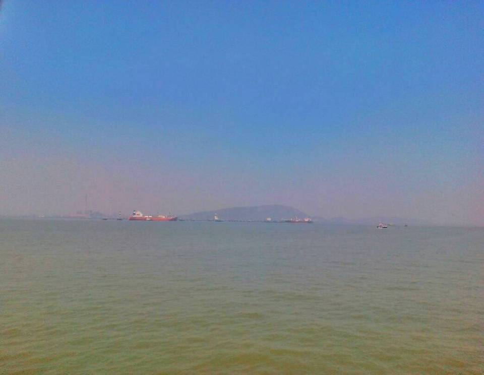 Elephanta Caves ferry - Voyager In The Arabian Sea 4- The Azure Sky Follows - Elephanta Islands - Tania Mukherjee