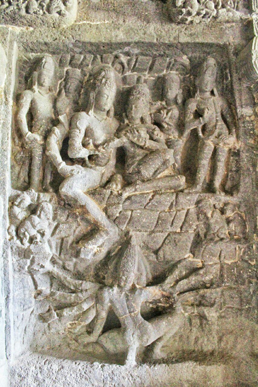Ellora 14- 15 Ravana shaking kailasha