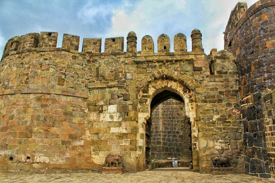 14 daulatabad fort - aurangabad - maharashtra - india - azure sky follows - mahakot gates