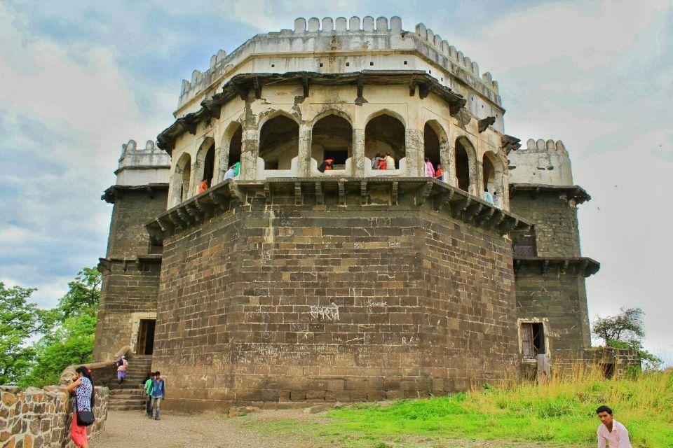 71 daulatabad fort - aurangabad - maharashtra - india - azure sky follows -- baradari