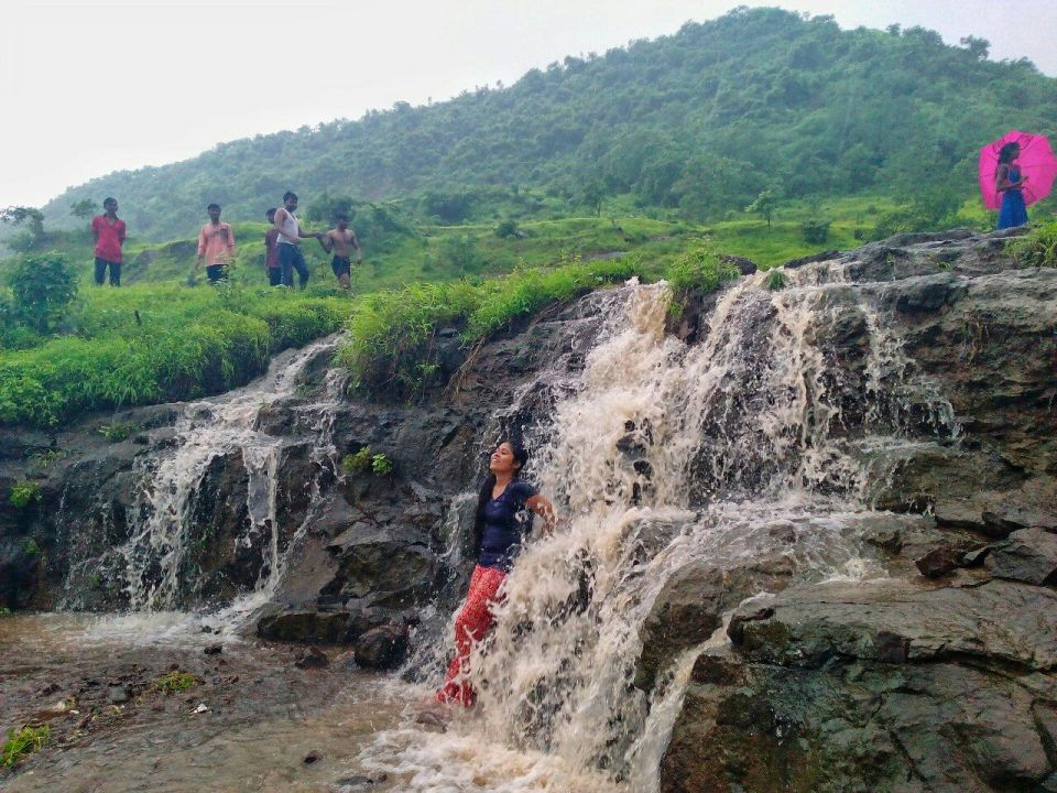 21 Fanaspada Kharghar Waterfall - Small waterfall - Kharghar golf course - Azure Sky Follows - Tania Mukherjee Banerjee