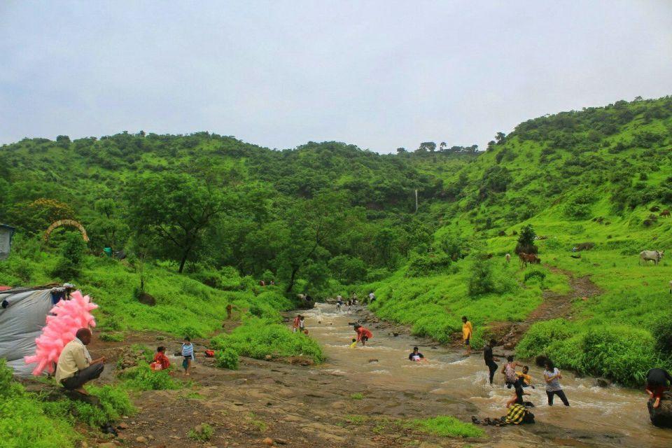 6 Fanaspada Kharghar Waterfall - Small waterfall - Kharghar golf course - Azure Sky Follows - Tania Mukherjee Banerjee