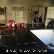 Plan de travail Quartz Silestone Eternal Marquina