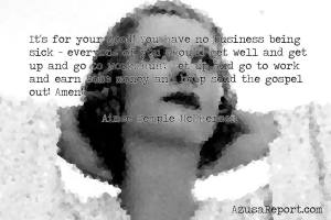 Aimee Semple McPherson of Healing