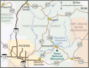 map_of_tonto_national_monument