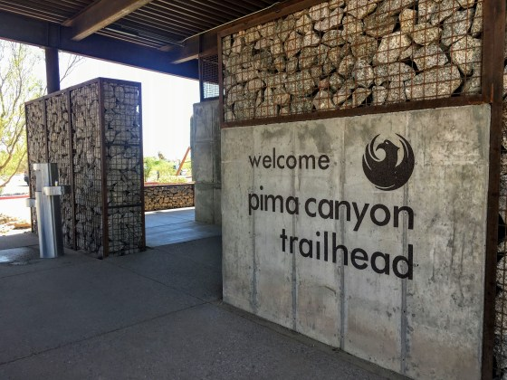Phoenix South Mountain Pima Canyon trailhead sign