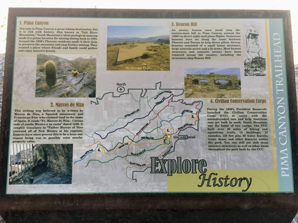 Hiking trail interpretive sign