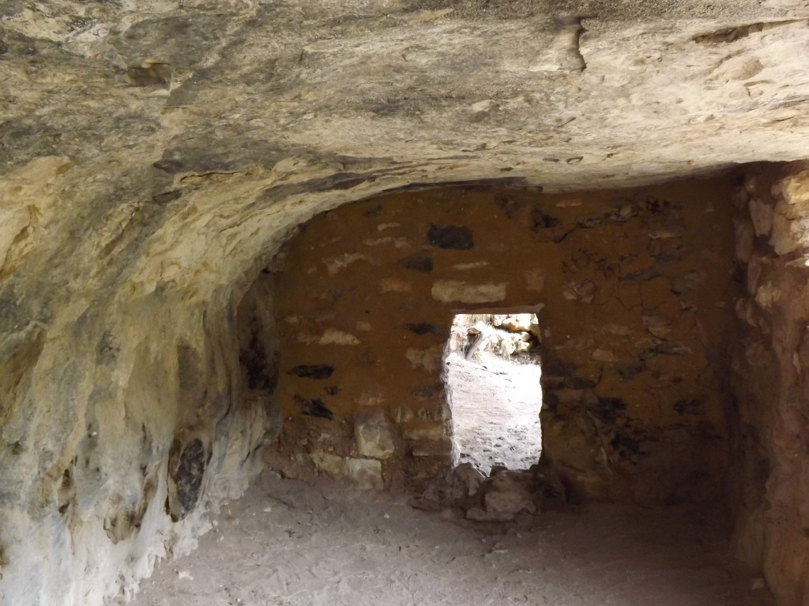 Small passage way in the wall of cliff dwelling
