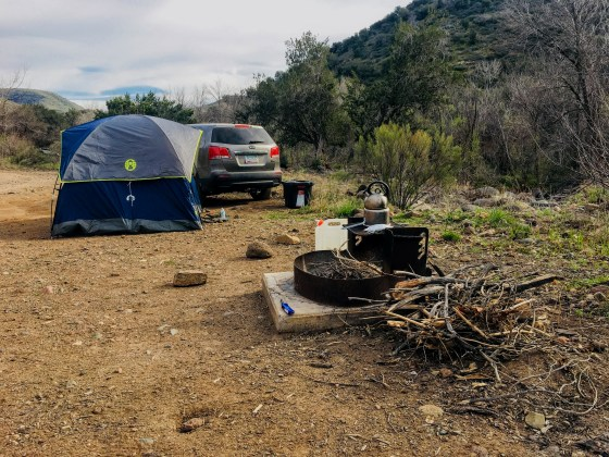 CCC campsite in Seven Springs Recreation Area.