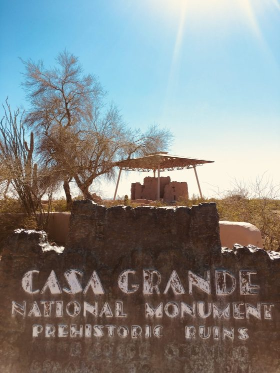Photo of the main entrance of Casa Grande National Monument